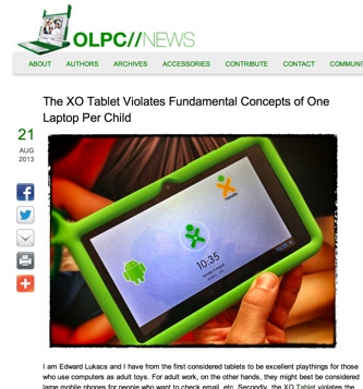 OLPC News xo tablet